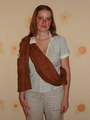 Слинг на бедре - как одевать слинг