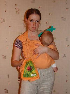 Слинг для новорожденного