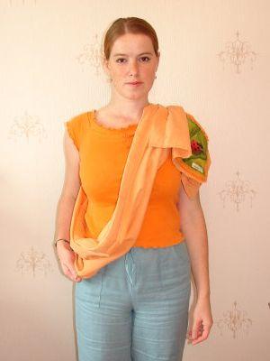 как правильно одевать слинг - на фото