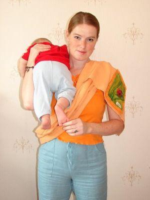 как правильно одевать слинг - есть видеоинструкция
