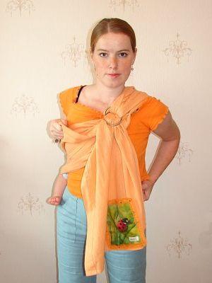 как правильно одевать слинг - с кольцами.