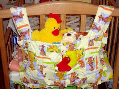 для новорожденных кармашек на кроватку