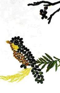 крупы и семяна в аппликации