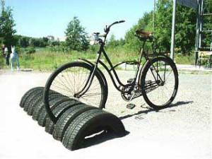 как сделать стоянку для велосипеда
