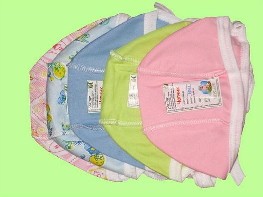Выкройка чепчиков для новорожденных