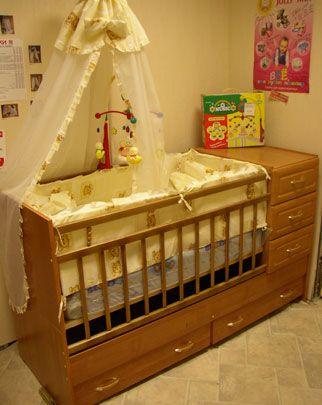 Купить в Казани дешево детскую кроватку, продажа в магазинах Казани.