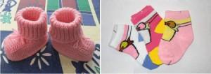носки - приданное для новорожденного осенью