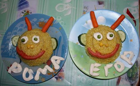 как украсить детские блюда - кашу