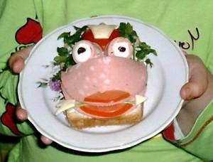 детские бутерброды - идеи с колбасой