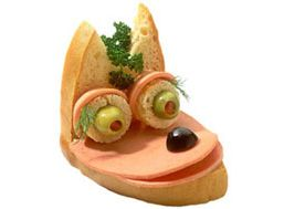 как ребенку оформить бутерброд