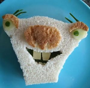 бутерброд в виде зверька