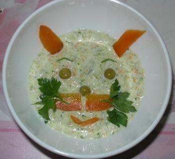 оформить детские блюда