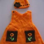 красивое вязанное платюшко для малышки