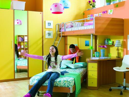 Детская комната для двоих детей уход