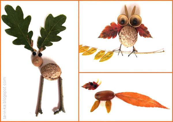 Поделки животных своими руками из природного материала