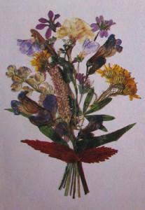 открытки своими руками - из сухих цветов