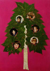 открытка своими руками - родословное дерево