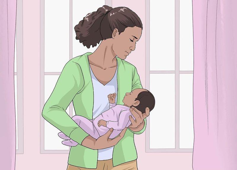 Положение новорожденного на руках