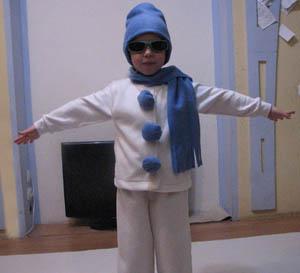 Костюм снеговика своими руками мастер класс
