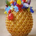 пасхальные яйца украшенные бисером