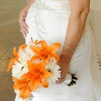 букет беременной невесты