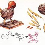 цыпленок из скорлупы ореха