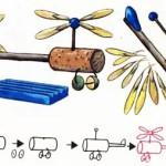 Вертолет из природных материалов