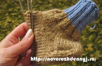 вяжем носки на 5 спицах