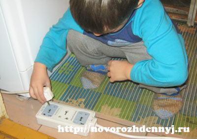 ребенок трудится