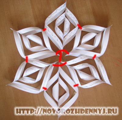 объемные снежинки схемы