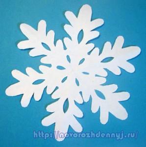 снежинка из бумаги чертежи