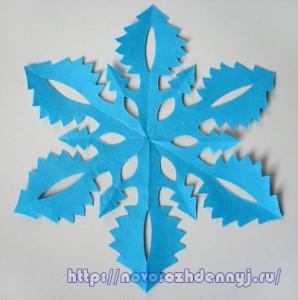 схема узорной снежинки