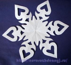 схема снежинки с сердечками