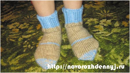 Как связать носки на ребенка 4 лет