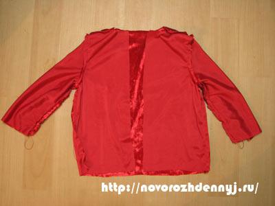 курточка для детского костюма санты