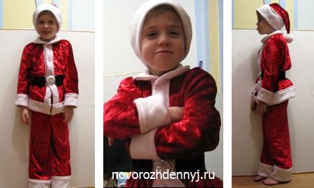 30709f86ed7 Детский костюм санты своими руками  как сшить шапочку