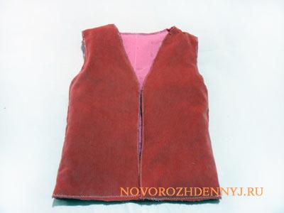жилетка для девочки с мехом