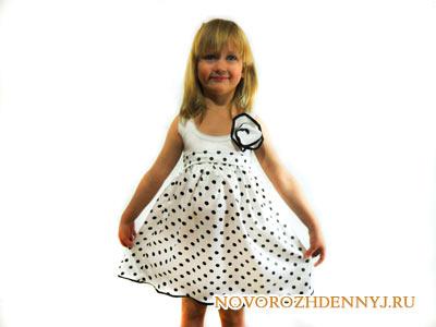 летнее платье для девочки сшить