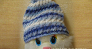 детская шапка спицами