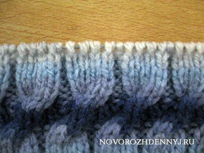 вязание шапки косичкой