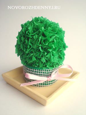 кактус из бумаги