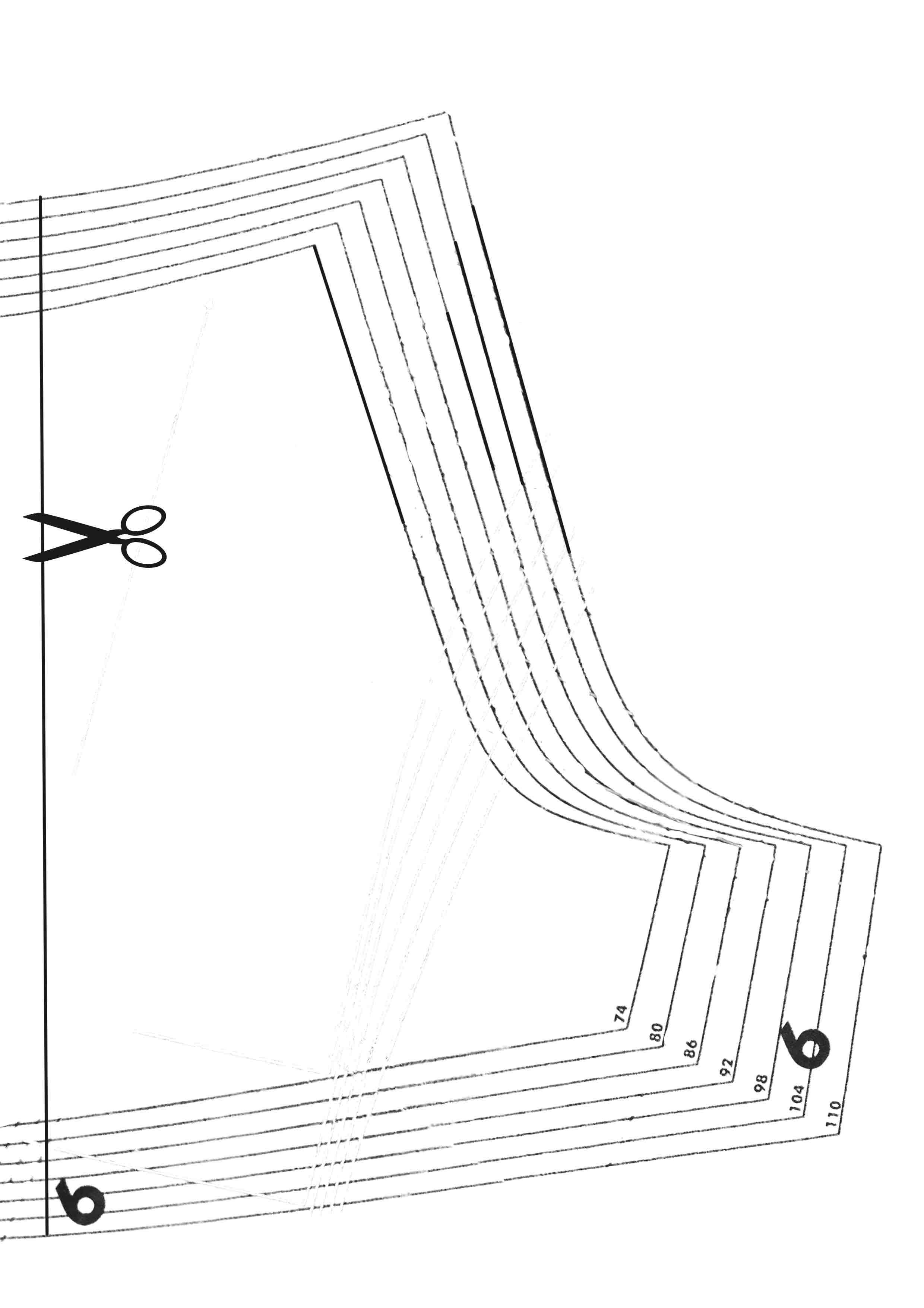 Выкройка брюк для мальчугана на резинке рост 110