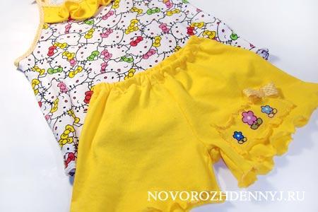сшить детские шорты