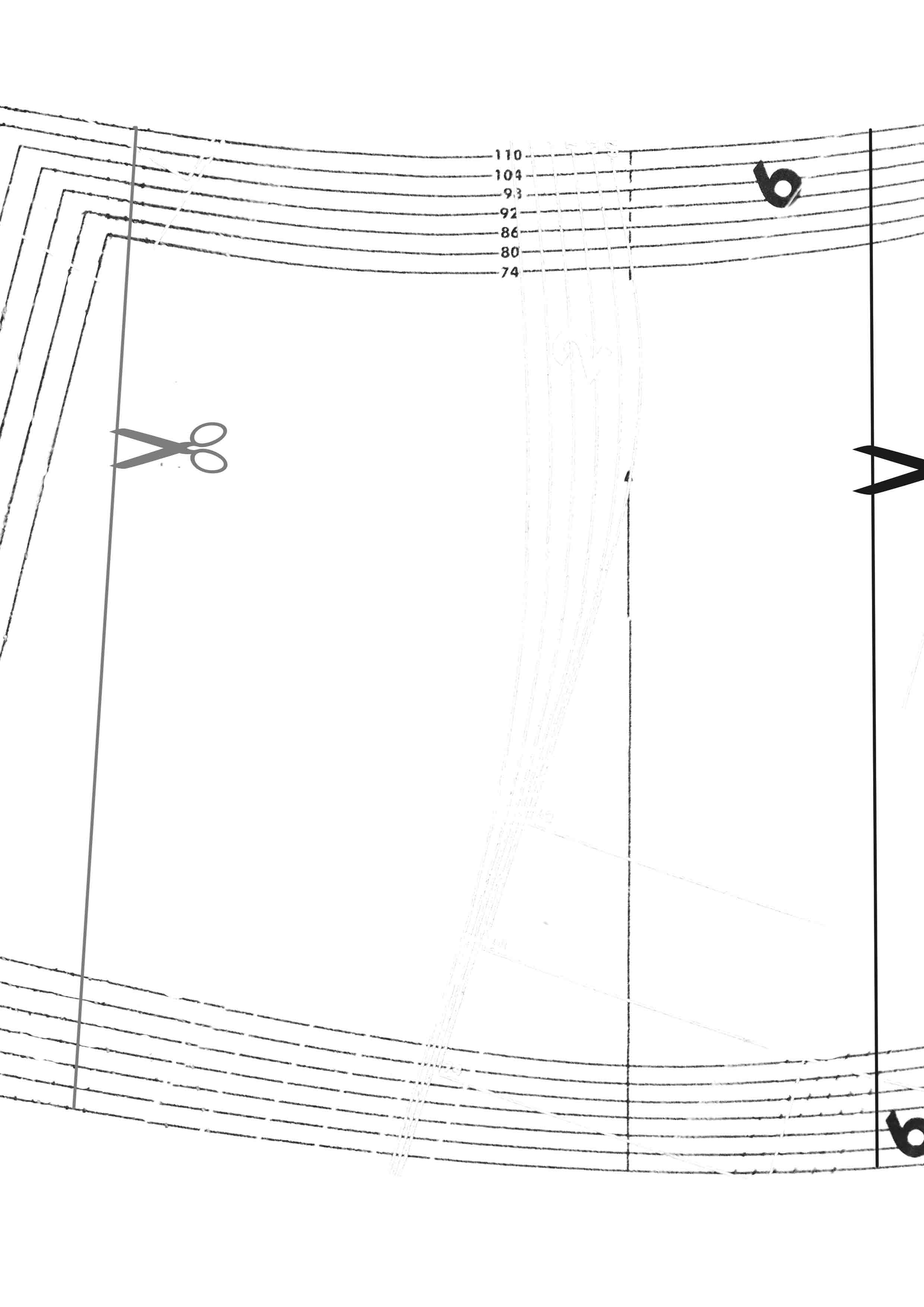 Выкройка - шорты с веревочкой