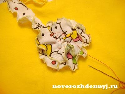 цветочек из ткани сшить