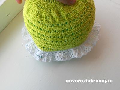 вязание крючком летней шапочки