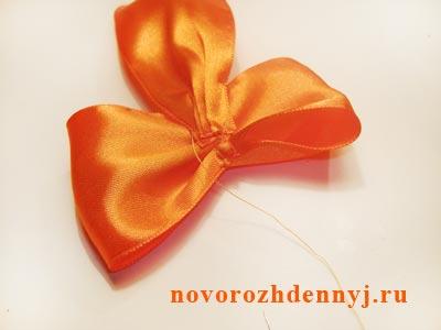 оранжевые бантики сшить