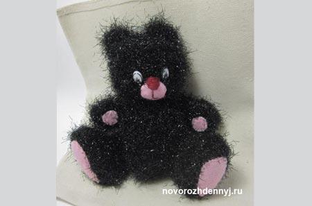 вязанный мишка спицами
