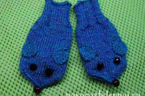 детские варежки спицами