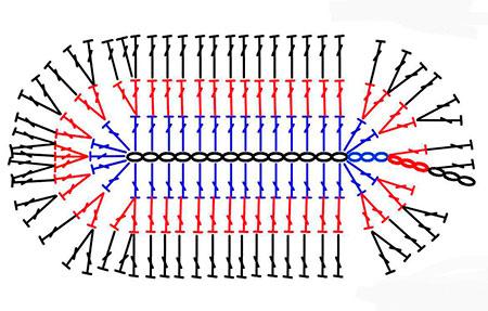 схема детских тапочек крючком